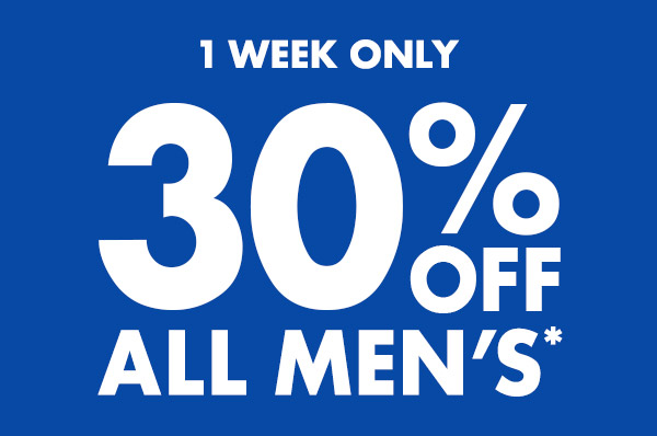 Save 30% off all men's clothing + free shipping Australia wide at Bonds.