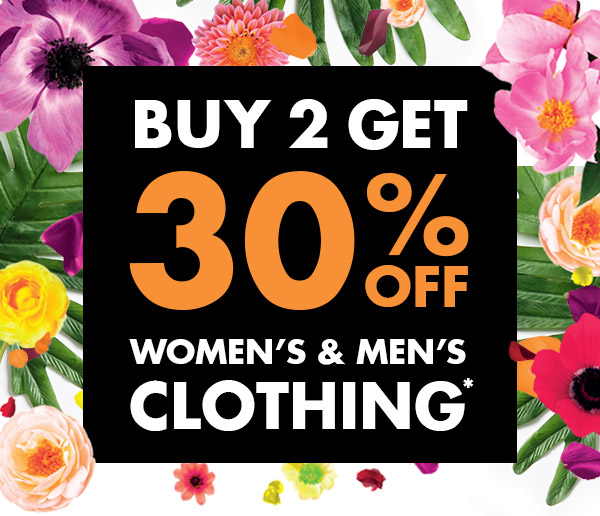 Buy 2 save 30% off men's & women's clothing + free shipping Australia wide at Bonds.
