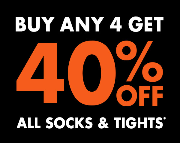 Buy any 4 & get 40% off all socks & tights + free shipping Australia wide at Bonds.