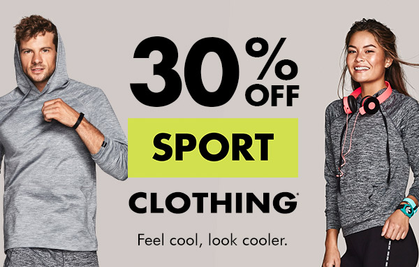 Save 30% off sports clothing + free shipping Australia wide at Bonds.