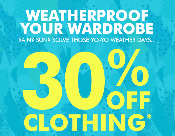 Save 30% off all clothing sale + free shipping Australia wide at Bonds.