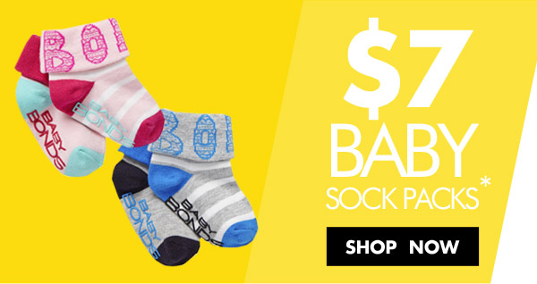 Hot price socks starting from $7 just for 1 week only at Bonds.com.au